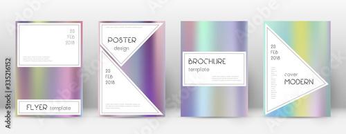 Obraz na plátně Flyer layout. Stylish surprising template for Broc
