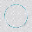 blue round frame on transparent background