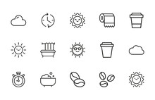 Icon Set Of Morning.