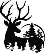 Deer With Tree, Buch Head, Dee...