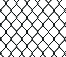 Chain Link Fence Background. S...