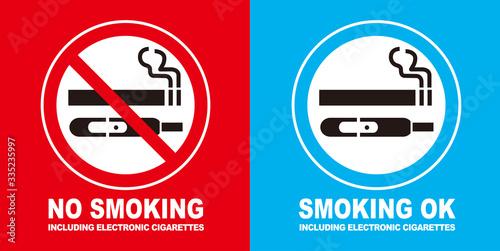 No smoking cigarette sign vector Fototapet