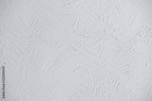 Light gray (grey) wall background with embossed abstract pattern Fototapet