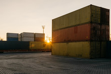Terminal With Containers Horiz...