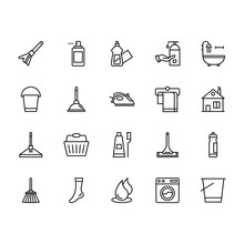 Pack Of Cleaning Vector Icons 2