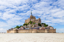 Mont Saint Michel, France. Sce...