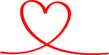 Red Heart - Outline Drawing Fo...