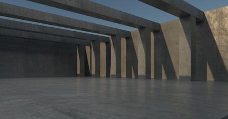 concrete wall simple 3d image 8