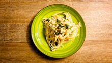 Tagliatelle With Creamy Cheese...