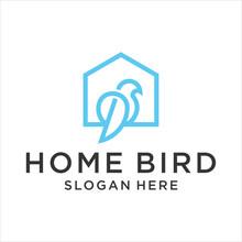 Home Bird Logo Style Kine Art,...