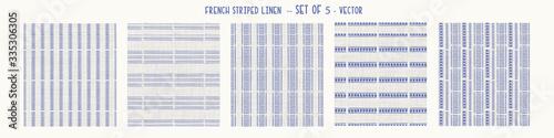 Tablou Canvas Seamless french farmhouse style woven linen stripe texture