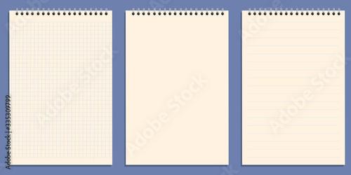 Fotografie, Obraz Le fond blanc de feuilles de bloc-notes à spirales pour écrire un message