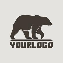Bear Profile Llogo Sign Vector...