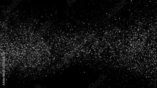 Fototapeta Black-White Square Dot Texture Isolated On Black. Grey Explosion Of Confetti. Silver Tint Background. Vector Illustration, EPS 10. obraz