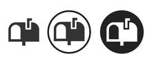 Mailbox Icon . Web Icon Set .vector Illustration