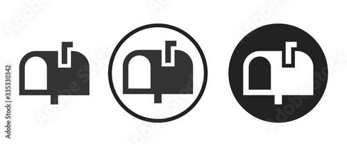 Fototapeta Mailbox icon . web icon set .vector illustration