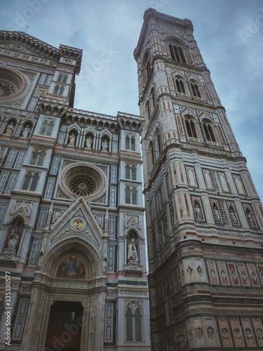 Vertical shot of the Cathedral of Santa Maria del Fiore in Florence, Italy