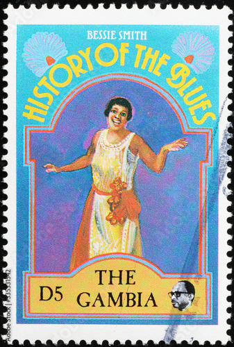Photo History of the Blues, Bessie Smith on postage stamp