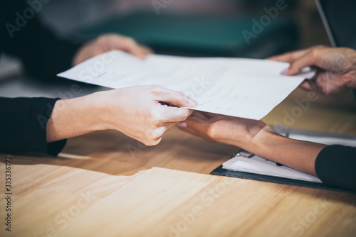 business approve and certificate concept, document permit and certified Canvas Print