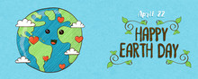 April 22 Earth Day Banner Of C...