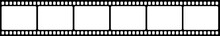 Vector Blank Cinema Film Strip.