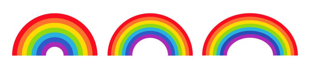 Vector illustration of rainbow icon