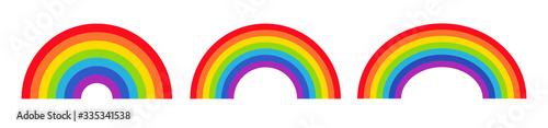 Obraz Vector illustration of rainbow icon - fototapety do salonu