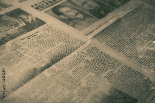 Photo The old communist newspaper of the USSR in 1945