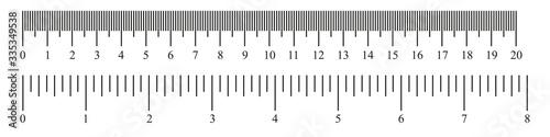 Ruler 20 cm, 8 inch Canvas Print