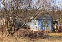 Abandoned Garden Plot. Background. Landscape.