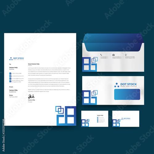 Carta da parati Corporate branding identity premium design