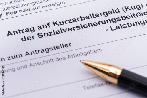 Cuadros en Lienzo Antrag auf Kurzarbeitergeld