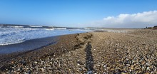 Clear Skies On Ogmore Beach