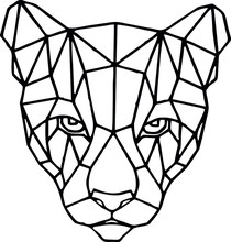 Panther In Geometric Style Dra...