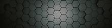 Hexagons Grey, Background Text...