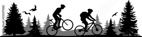 Foto Mountain Bike Sport Vector Silhouette