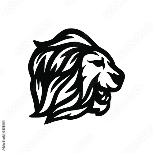 Fototapety, obrazy: wild lion mascot logo design vector
