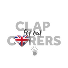 Clap For Carers Message With U...