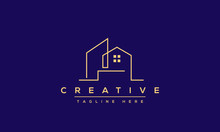 Modern House Logo Design. Real...