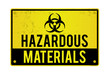 Hazardous Materials Warning Sign Illustration