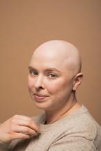 Portrait Of Confident Bald Wom...