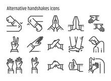 Alternative Handshakes Icons.