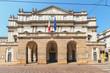 Piazza della Scala Milano, Italia, deserta durante la quarantena a causa del Corona virus - Civid 19.