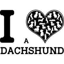 Love Dachshund-heart_1.zip, Heart Dachshund-heart_1.zip, Split Frame Vector