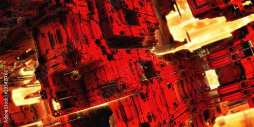 Fractal 3D abstraction - background  © Wojciech Rochowicz