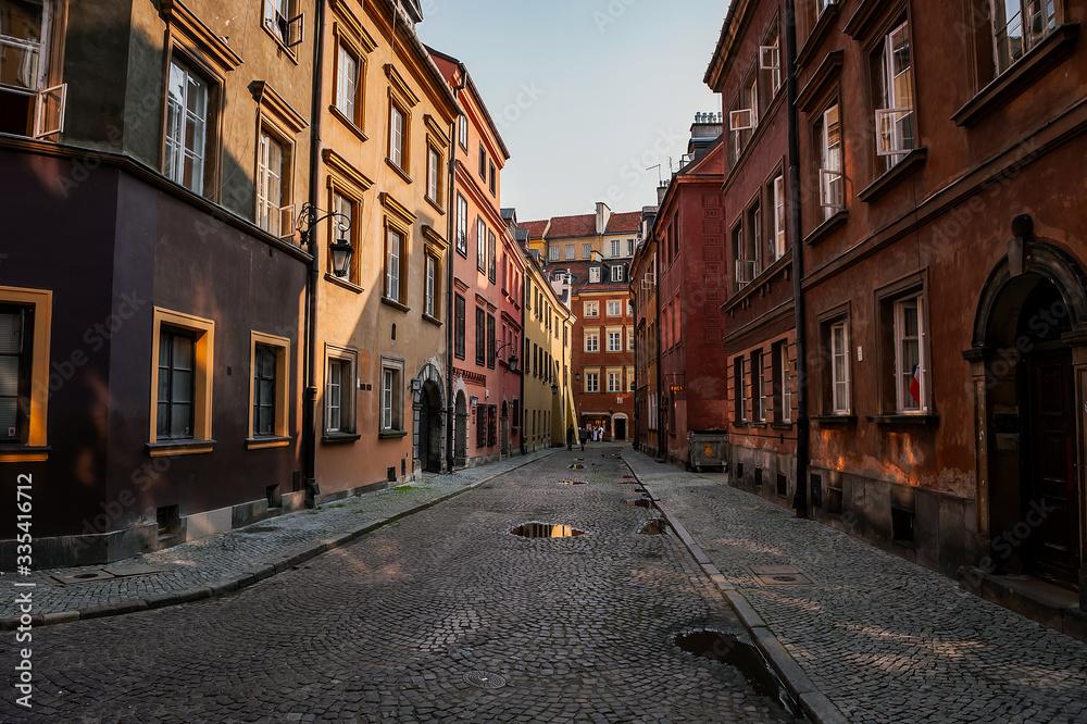 Fototapeta Warszawska ulica