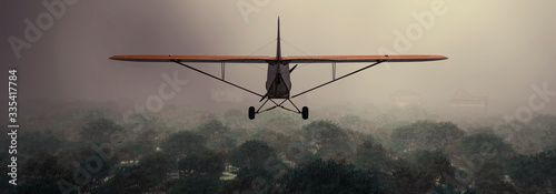 illustration of a biplane Canvas Print