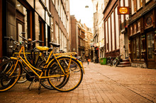 Amsterdam Bikes And Coffee Shops