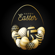 Luxury Happy Easter Card With ...