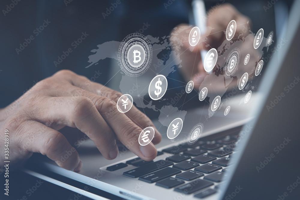 Fototapeta Financial technology